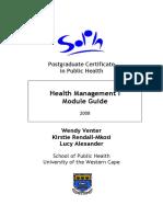 Health Management I Module Guide