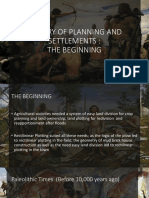 History of Planning and Settlements