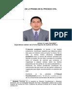 LA TEORÍA DE LA PRUEBA EN EL PROCESO CIVIL. AUTOR. DR. JANNER  A. LOPEZ  AVENDAÑO.