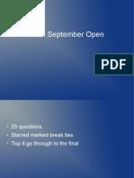 KQA September Open