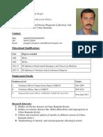 Dr Ganesh Hegde Biodata