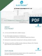 Electronet Equipments Pvt Ltd - Corporate Presentation
