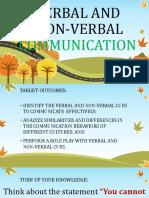 Verbal and Nonverbal