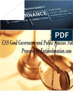 CSS Governance and Public Policies