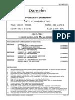 (HUMBUS1) (BUS-PM1) Human Resource Management 1 (Nov2013) v5