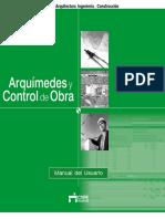 Arquímedes y Control de Obra - Manual Del Usuario