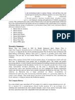 Internship Report Master Tiles