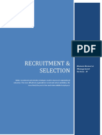 HRM Research - Recruitment and Selection