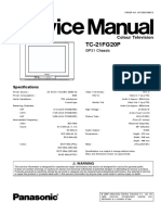 Panasonic Tc-21fg20p Gp31 Service Manual