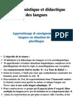 IV-sociolinguistique Et Didactique Des Langues