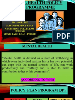 NATIONAL MENTAL HEALTH POLICY AND PROGRAMME