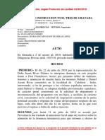 Auto Judicial sobre la petición de medidas cautelares de Juana Rivas