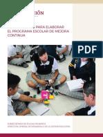 Orientaciones Para Elaborar El Programa Escolar de Mejora Continua Ciclo Escolar 2019-2020