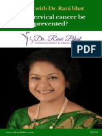 Can cervical cancer be prevented? | Cervical Cancer Treatment in Bangalore | Dr Rani Bhat