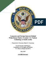 Trump Saudi Nuclear Report July 2019