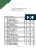 Specializarea Medicină Lista Candidaților În Ordinea Alfabetică