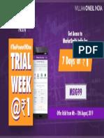 Free Week Offer Aug 4-10 2019 -MarketSmith India