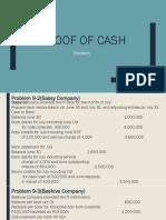 Proof of Cash Problem