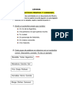Temas de lenguaje castellano