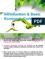Introduction to Economics and Central Problems