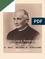 Cronologia Essenziale Venerable P. Karl Halfdan M. Schilling 1835-1907
