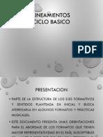 Presentación LINEAMIENTOS BASICO