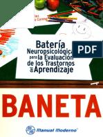 Yáñez Téllez & Prieto Corona - Batería neuropsicológica para la evaluación de los trastornos del aprendizaje (BANETA).pdf