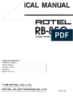 Rotel RB-850 service manual