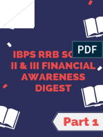 IBPS RRB Scale II & III Financial Awareness Digest - Part 1- Final