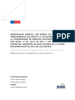 Investigacion SISS a falla Essal en Osorno