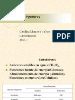 Clase6 Carbohidratos 2017-2