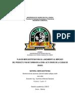 Proyecto Produccion Pan de Tarwi