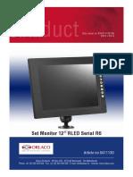 DS0411130 Set Monitor 12in RLED Serial R6 en R1-0