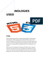Report File - Technologies used and Conclusion.rtf