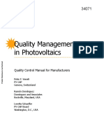 Quality Manual Photovoltaics