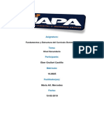 Fundamentos y Estructura Del Currículo Dominicano- Nivel Secundario