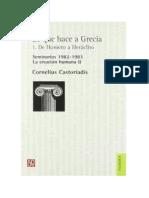 Castoriadis Cornelius. Lo que hace a Grecia I - De Homero a Heráclito. 119p.pdf