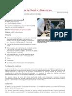 Taller de Química - Materia. Precipitación Química de Minerales y Biominerales
