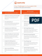 4 Challenges to a Successful CRM GRAPHIC CHECKLIST