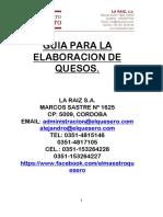 Guia Para La Elaboracion de Quesos de Manera Artesanal