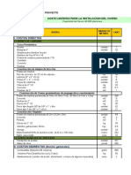 Costos Vivero Proyecto de Instalacion 2008