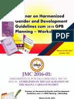 GAD Planning (JMC 2016-01)