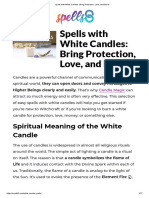 Spells With White Candles