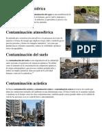 Contaminación Agua, Suelo, Aire2