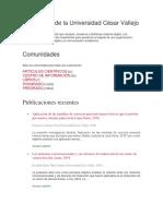 Repositorio de La Universidad César Vallejo
