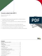 SiSiC Tubo Radiante SER-C Kromschroeder (Alemania) Technical Info