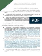 Orientações Oficiais Para o Trabalho de Português Do 9º Ano