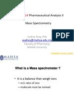 MPHA4214 Pharmaceutical Analysis II B7 S5 MS