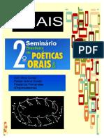 ANAIS 2 Seminário Brasileiro de Poéticas Orais