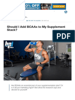 Branched Chain Amino Acids (BCAA)_ Hype or Help